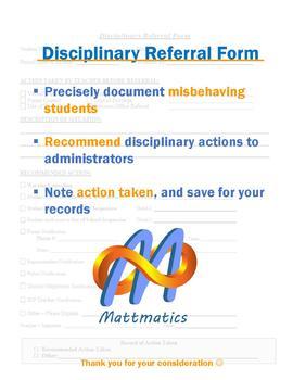 Disciplinary Referral Form