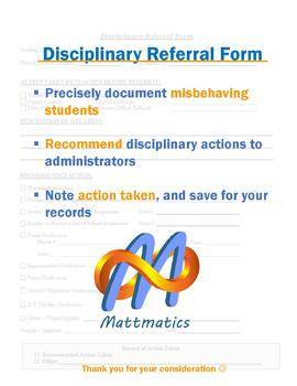 Disciplinary Referral Form