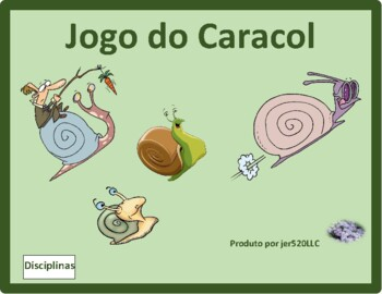 Disciplinas (School Subjects in Portuguese) Caracol Snail game