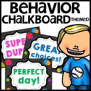 Discipline Chart (Chalkboard Themed)