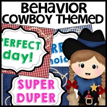 Discipline Chart (Cowboy Themed)