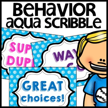 Discipline Chart MIX AND MATCH (AQUA Polka Dot Scribble)