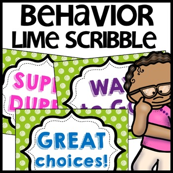 Discipline Chart MIX AND MATCH (LIME Polka Dot Scribble)