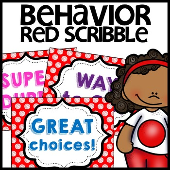 Discipline Chart MIX AND MATCH (Red Polka Dot Scribble)