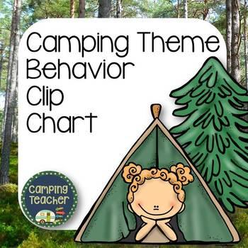 Discipline Clip Chart for Behavior Management Camping Theme