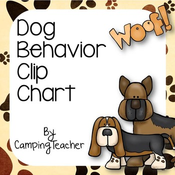 Discipline Clip Chart for Behavior Management Dog Theme