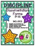Discipline Documentation Forms (K-12)