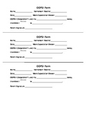 Discipline Forms: Respect Slip and OOPS Form