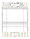 Ice Cream Discipline Record Sheet