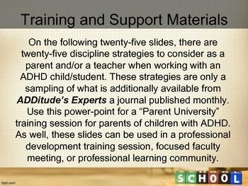Discipline Strategies for ADHD Children