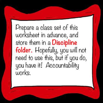 Chorus Conduct Vocabulary Discipline Worksheet + Answer Key