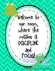 Discipline and Focus Posters