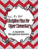Discipline/Behavior Plan for Upper Elementary Grades - Editable Pages