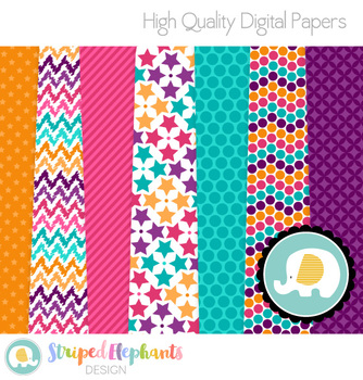 Disco Color Digital Papers