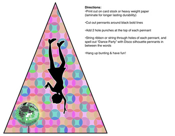 Disco Dance Party Bunting