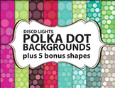 "Polka Dot Background / Digital Paper Clip Art ""Disco Light"