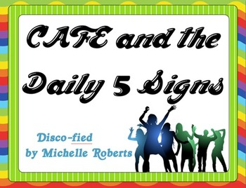 Disco Theme CAFE and Daily 5 Posters