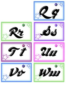 Disco Theme Word Wall Alphabet