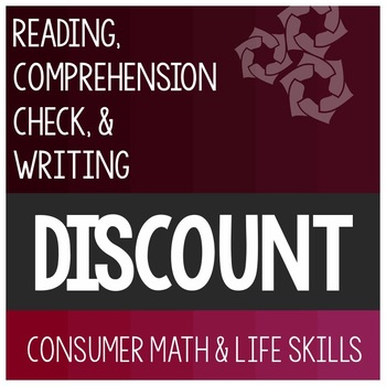Discount Article- Consumer Math Special Education