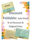 Discount Foldable: Finding Sales Price, Percent of Discoun