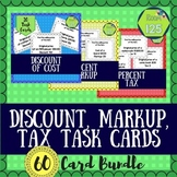 Discount, Markup, and Tax Task Card Bundle