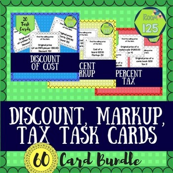 Discount Markup Activity Teaching Resources Teachers Pay Teachers