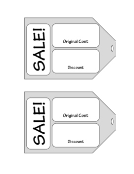 Discount Percent Sales Tags