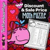 DISCOUNT & SALE PRICE MATH PUZZLE - VALENTINE'S DAY