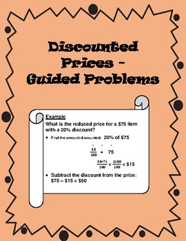 Discount Prices - Calculating with Guidance