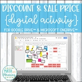 Discount and Sale Price DIGITAL Activity for Google Drive and Distance Learning