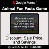Discount, Sale Price, Savings | Animal Fun Facts Game | Go