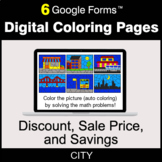Discount, Sale Price, Savings - Digital Coloring Pages | G