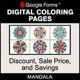 Discount, Sale Price, Savings - Digital Mandala Coloring P