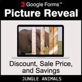 Discount, Sale Price, Savings - Google Forms Math Game | D