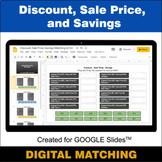Discount, Sale Price, Savings - Google Slides - Distance L