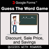 Discount, Sale Price, Savings | Guess The Word Game | Goog