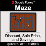 Discount, Sale Price, Savings | Maze | Google Forms | Digi