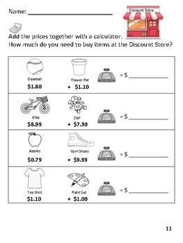 Discount Store- Calculator Math