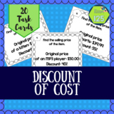 Percent Discount Task Cards