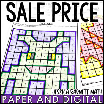 Discount and Markdown Coloring Page Activity