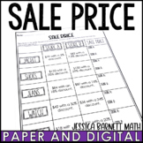 Sale Price Shopping Activity   Distance Learning   Digital and Print