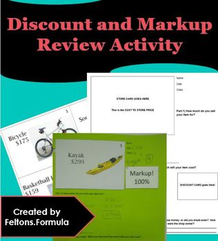 Discount and Markup Activity