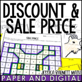 Discount and Sale Price Lesson bundle   Distance Learning   Digital and Print