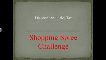 Discount and Sales Tax- SHOPPING SPREE