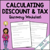 Discount and Tax Discovery Worksheet