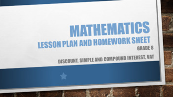 Grade 8 Discount, simple and compound Interest, VAT