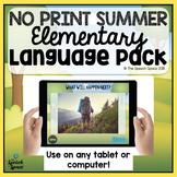 No Print Elementary Summer Language Pack