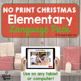 No Print Elementary Christmas Language Pack