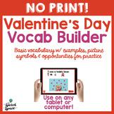 NO PRINT Valentine's Day Vocabulary Builder