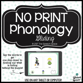 No Print Interactive Phonology: Gliding